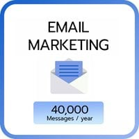 Email Marketing 40,000 e-mail / year