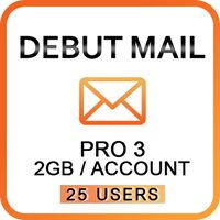 Debut Mail Pro 3 (25 Users)