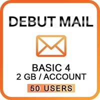 Debut Mail Basic 4 (50 Users)